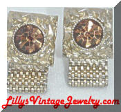 Swank topaz golden cufflinks