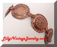 Vintage COPPER SouthWestern Shield Bracelet
