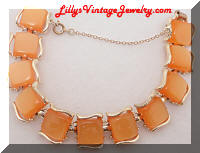 Coro orange plastic bracelet