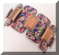 RENOIR Matisse Colorful Enamel Copper Modernist Bracelet