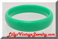 Vintage Green Plastic Bangle Bracelet