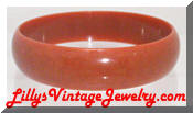 vintage plastic burnt orange brown bracelet