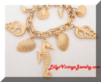 Golden Sea horse Shells charm bracelet