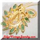 Juliana green brooch