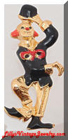 Contemporary ELLE Dancing Clown Brooch