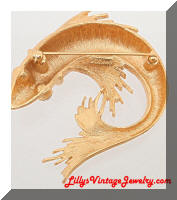 Vintage MONET Golden Koi Fish Brooch