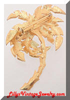 Golden Palm Tree Brooch Large