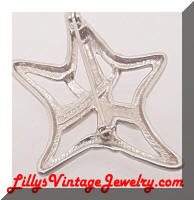 Contemporary Liz CLAIBORNE Rhinestone Star Brooch