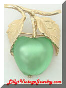 Napier green apple brooch
