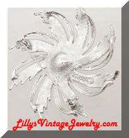 SARAH COVENTRY Silvery Sunburst Vintage Brooch