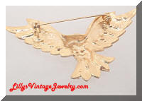 Patriotic Rhinestones Flying Eagle Brooch
