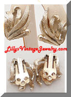 Vintage CORO Golden Seaweed Earrings