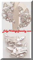 Glitzy Vintage EISENBERG ICE Rhinestones Floral Earrings