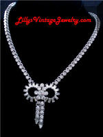Quality Baguettes Chatons Rhinestones Deco Necklace