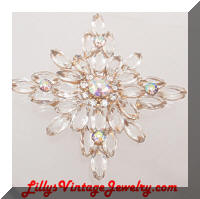 Juliana DeLIZZA and ELSTER AB Rhinestones Star Brooch