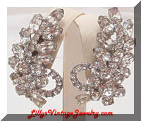 Juliana DeLizza & Elster Rhinestones Floral Earring Climbers