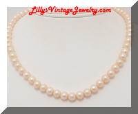 Vintage JAPAN faux Pearls Choker Necklace