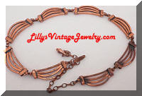 Modernist RENOIR Copper Necklace
