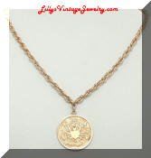 Sarah Coventry Zodiac Cancer Pendant Necklace