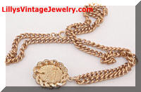 Vintage SARAH COVENTRY Old Vienna Pendant Necklace