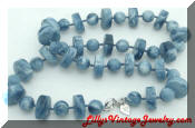 Sarah Coventry Stone age blue necklace