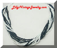 Vintage Multi Strand Seed Beads Necklace