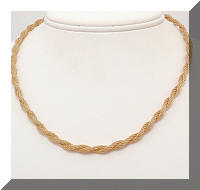 Twisted Golden Mesh Choker Necklace