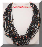 Gorgeous Multi-Strand Glass Beads Necklace