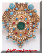 Hattie Carnegie Shield Brooch