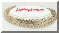 WHITING & DAVIS Gold tone Mesh Choker Necklace